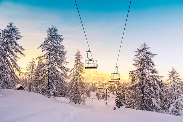 Ski Hill Chair Lift